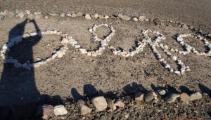 Alfa sign in rocks