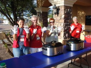 The helpers at Welcome Dinner