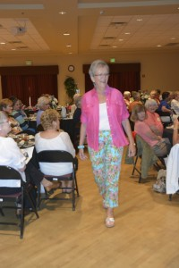 Modeling at Ladies luncheon